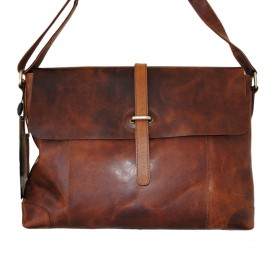 Rowallan Franconia A4 Leather Messenger Bag